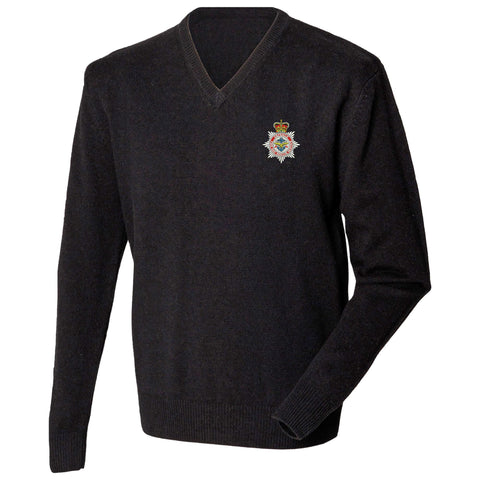 Defence Fire and Rescue Service Lambswool V-Neck Jumper