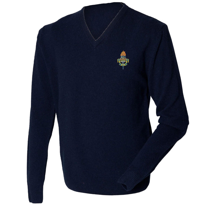 Educational and Training Services Lambswool V-Neck Jumper
