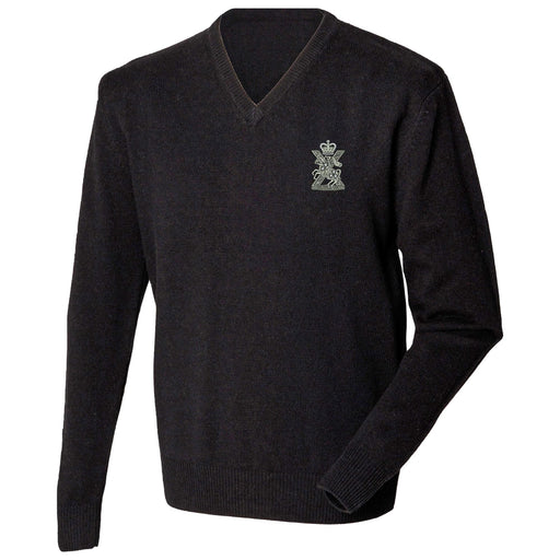 Fife and Forfar Yeomanry/Scottish Horse Lambswool V-Neck Jumper