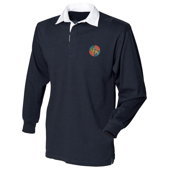 Force Troops Command Long Sleeve Rugby Shirt