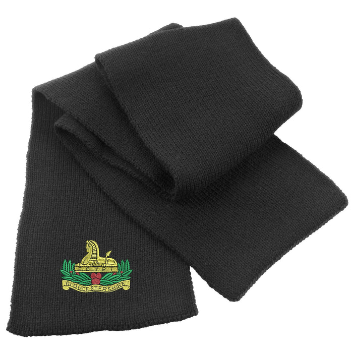 Gloucestershire Regiment Heavy Knit Scarf