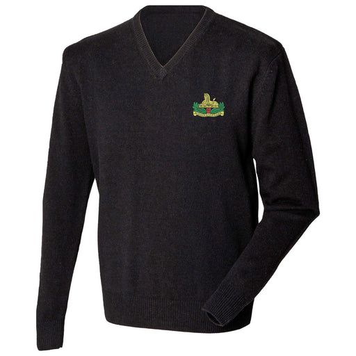 Gloucestershire Regiment Lambswool V-Neck Jumper