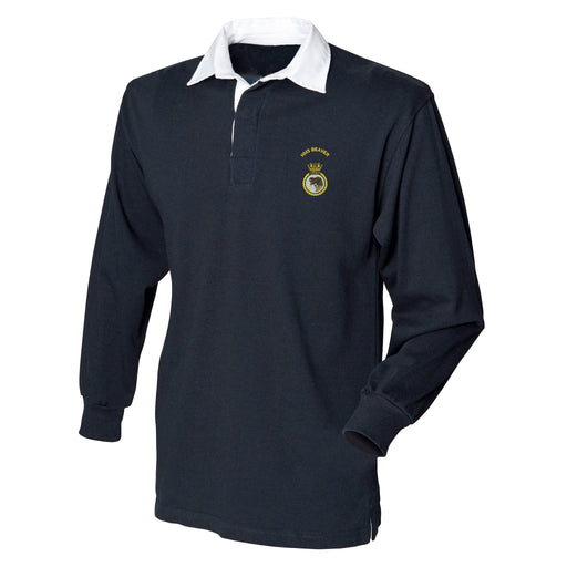 HMS Beaver Long Sleeve Rugby Shirt