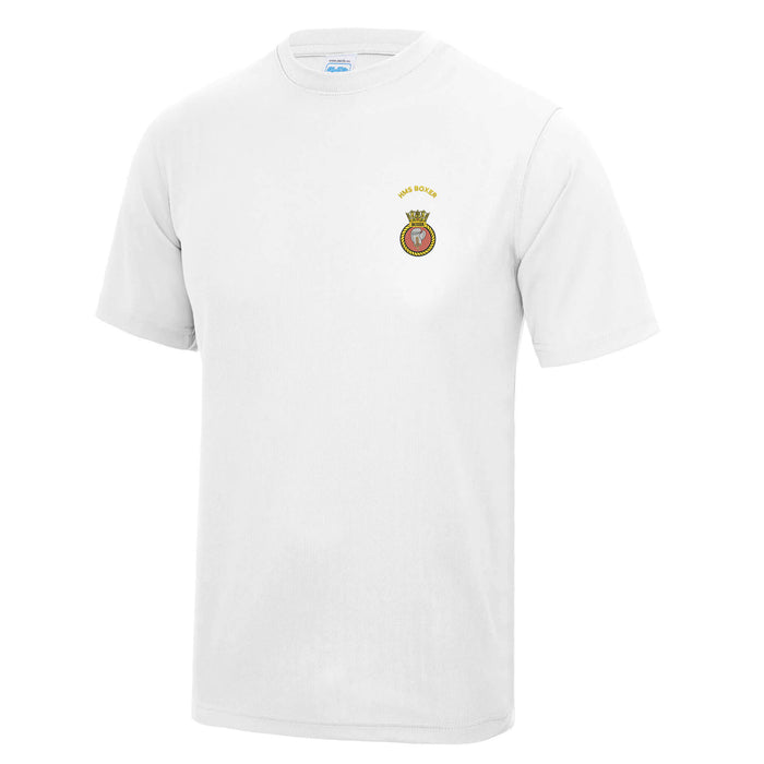 HMS BOXER Embroidered Polo Shirts