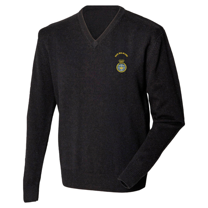 HMS Bulwark Lambswool V-Neck Jumper