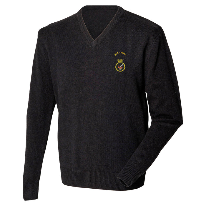 HMS Daring Lambswool V-Neck Jumper