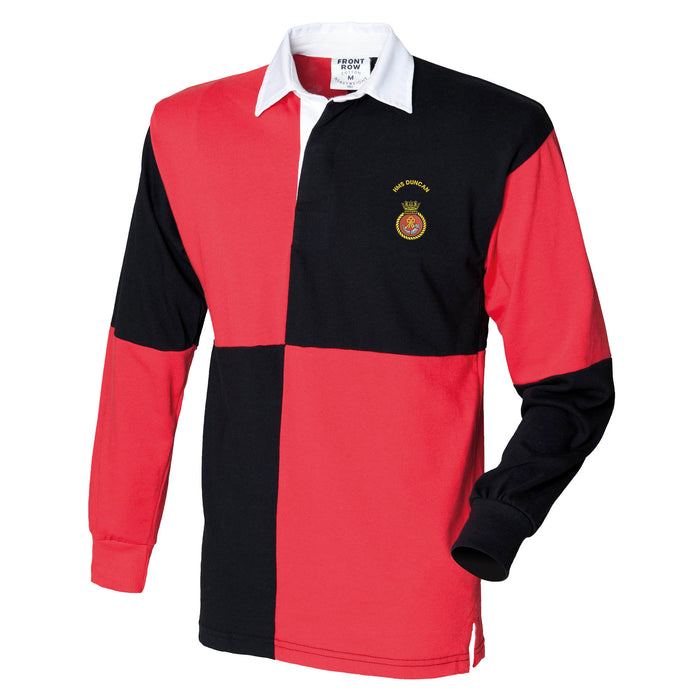 HMS Duncan Long Sleeve Quartered Rugby Shirt