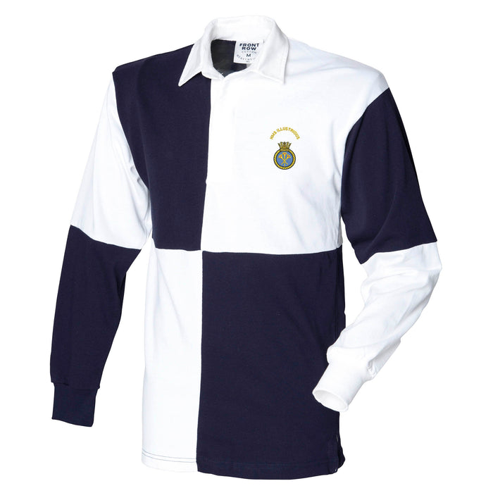 HMS Illustrious Long Sleeve Quartered Rugby Shirt