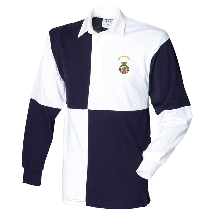 HMS Iron Duke Long Sleeve Quartered Rugby Shirt