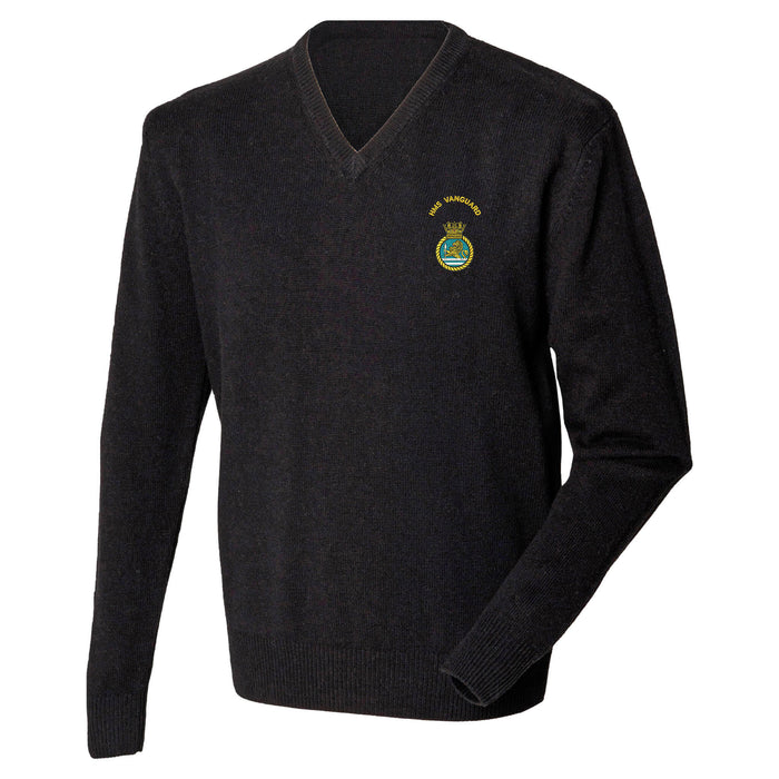 HMS Vanguard Lambswool V-Neck Jumper