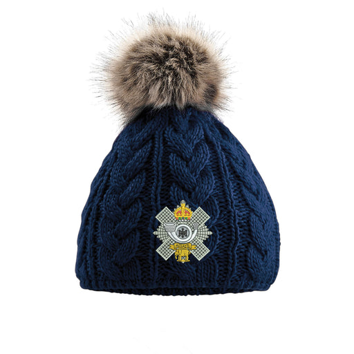 Highland Light Infantry Pom Pom Beanie Hat