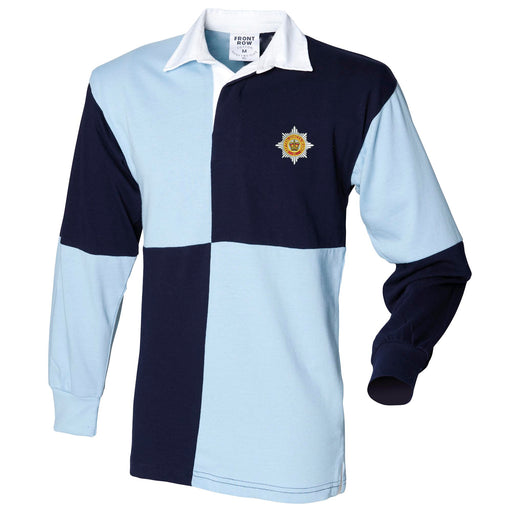 Household Division Long Sleeve Quartered Rugby Shirt