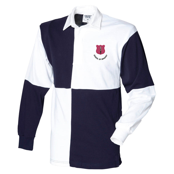 ITC Catterick - School of Infantry Long Sleeve Quartered Rugby Shirt