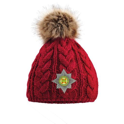 Irish Guards Pom Pom Beanie Hat