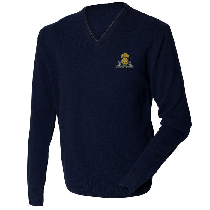 Lancashire Fusiliers Lambswool V-Neck Jumper