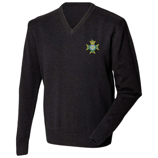 Light Dragoons Lambswool V-Neck Jumper