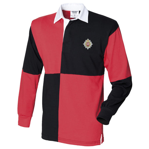 London Regiment Long Sleeve Quartered Rugby Shirt