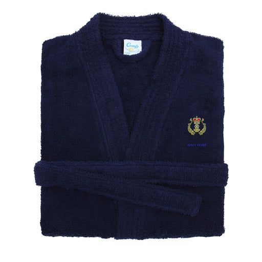 Navy Diver Dressing Gown