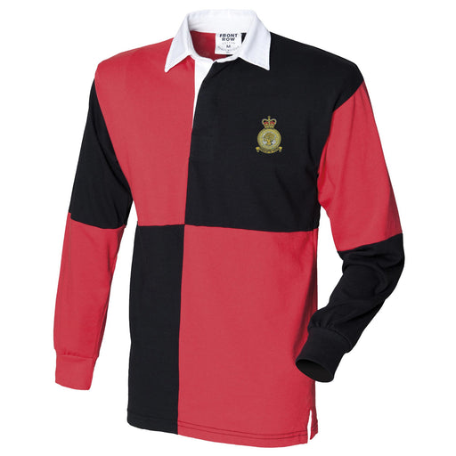 No. 504 Squadron RAF Long Sleeve Quartered Rugby Shirt