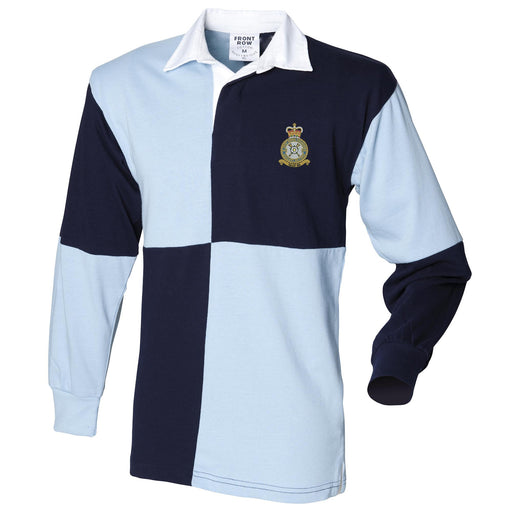 No 609 Squadron RAF Long Sleeve Quartered Rugby Shirt