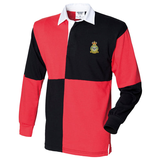 No 9 Squadron RAF Long Sleeve Quartered Rugby Shirt