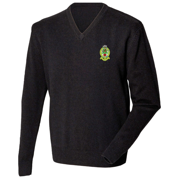 Princess of Wales's Royal Regiment Lambswool V-Neck Jumper