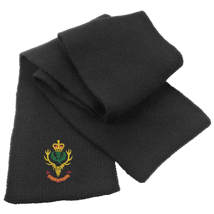 Queens Own Highlanders Heavy Knit Scarf