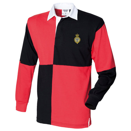 Queen's Own Mercian Yeomanry Long Sleeve Quartered Rugby Shirt