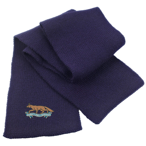 Queens Own Yeomanry Heavy Knit Scarf