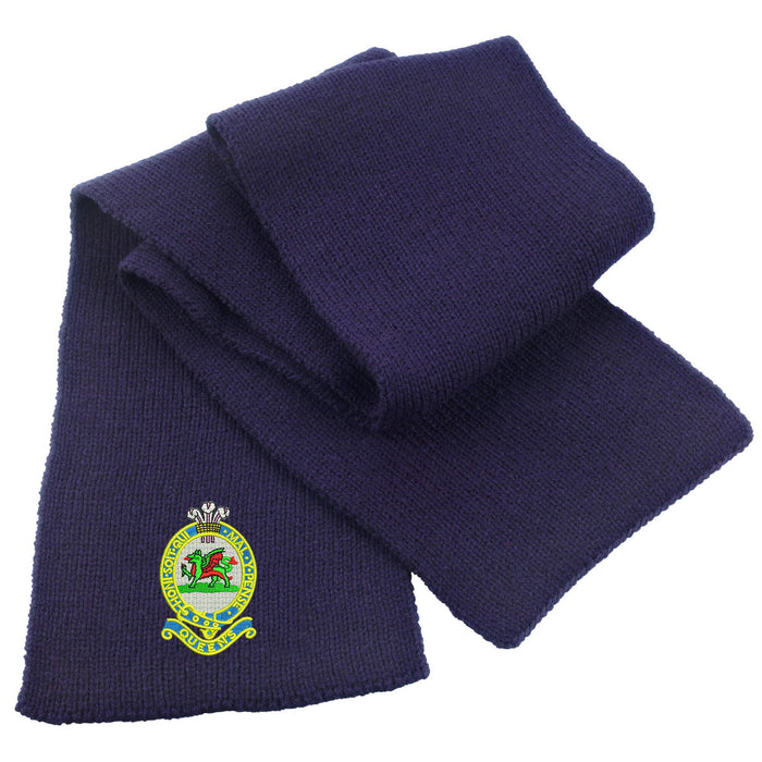 Queens Regiment Heavy Knit Scarf