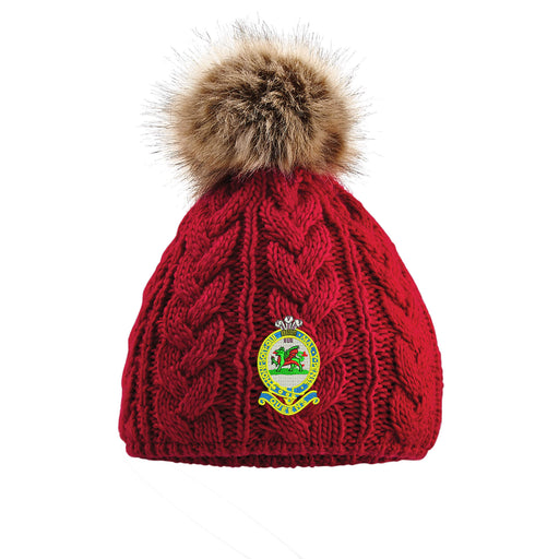 Queens Regiment Pom Pom Beanie Hat