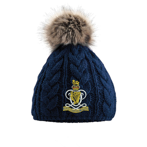 Queens Royal Hussars Pom Pom Beanie Hat
