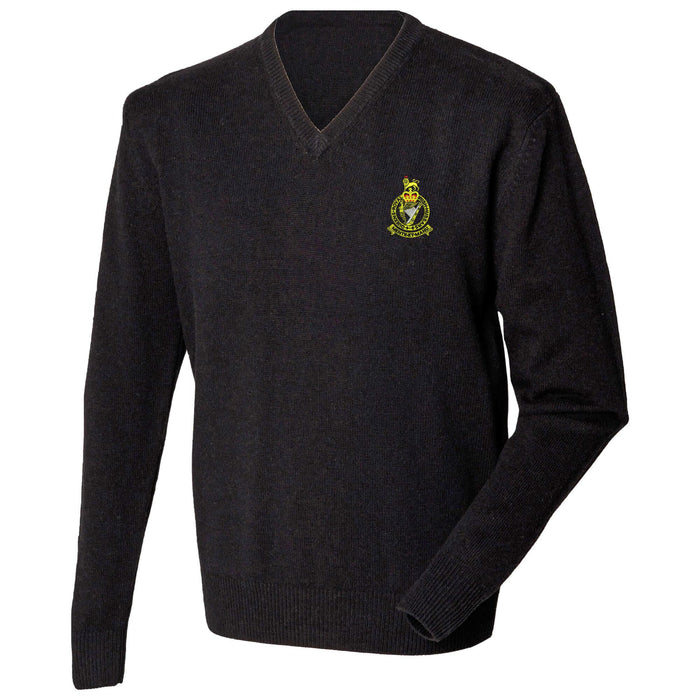 Queen's Royal Irish Hussars Lambswool V-Neck Jumper