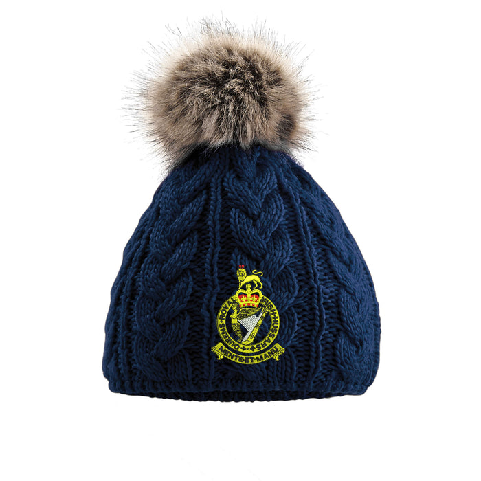 4010251a232 Queen s Royal Irish Hussars Pom Pom Beanie Hat — The Military Store