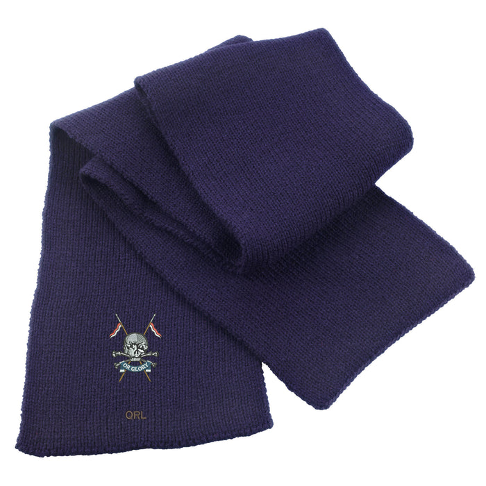 Queens Royal Lancers Heavy Knit Scarf