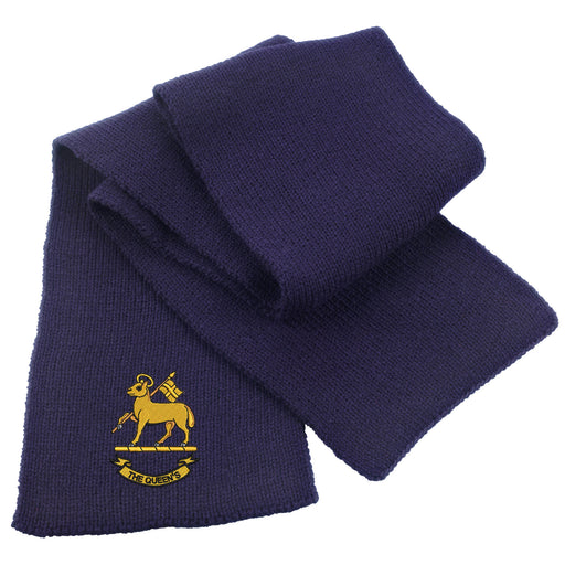 Queen's Royal Regiment Heavy Knit Scarf