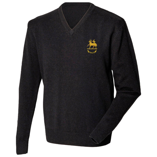 Queen's Royal Regiment Lambswool V-Neck Jumper