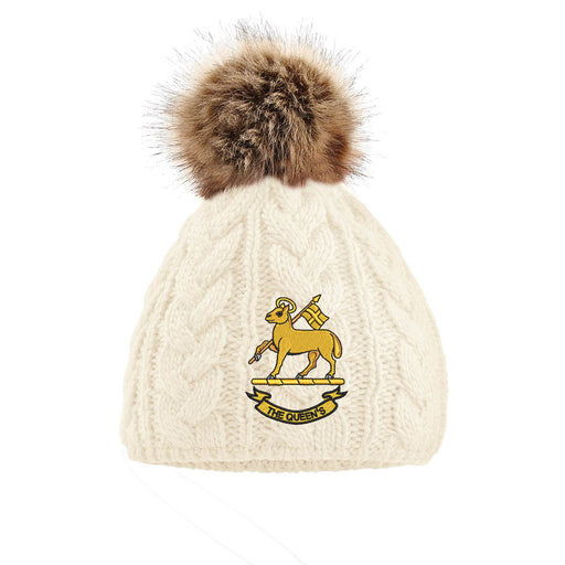 Queen's Royal Regiment Pom Pom Beanie Hat