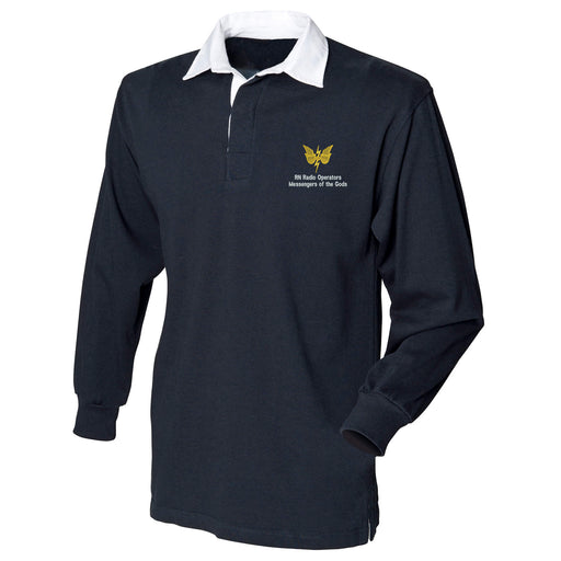 RN Radio Operators Long Sleeve Rugby Shirt