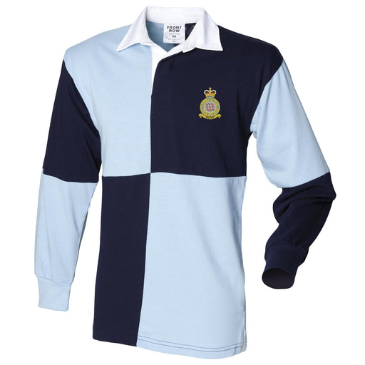 Red Arrows Long Sleeve Quartered Rugby Shirt