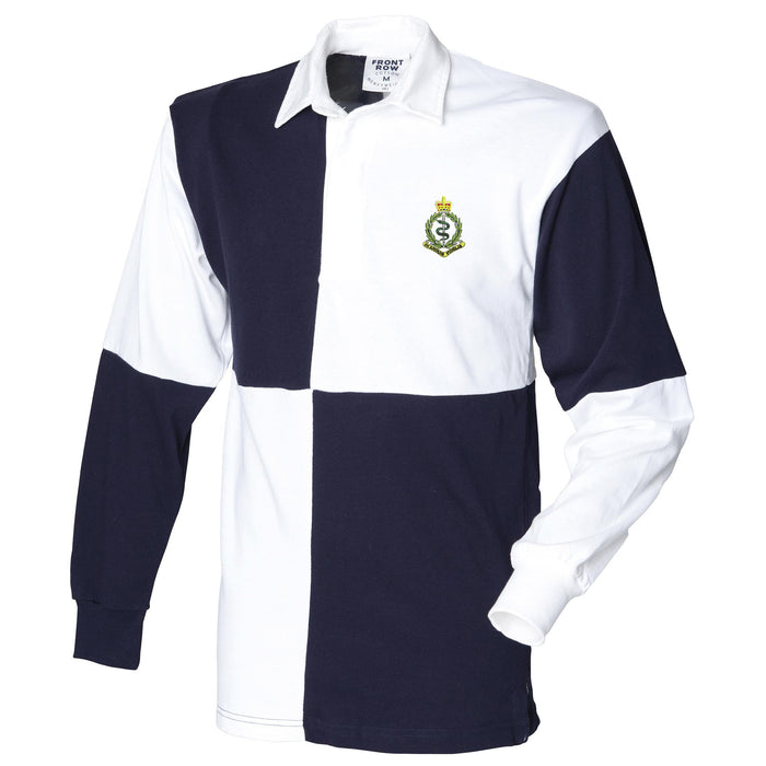 Royal Army Medical Corps Long Sleeve Quartered Rugby Shirt