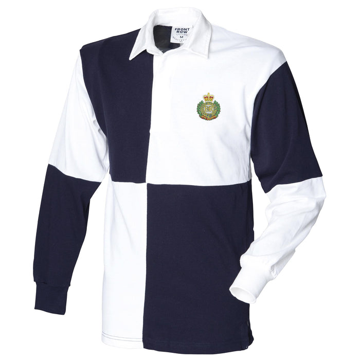 Royal Engineers Long Sleeve Quartered Rugby Shirt