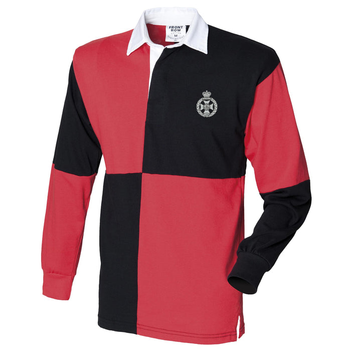 Royal Green Jackets Long Sleeve Quartered Rugby Shirt