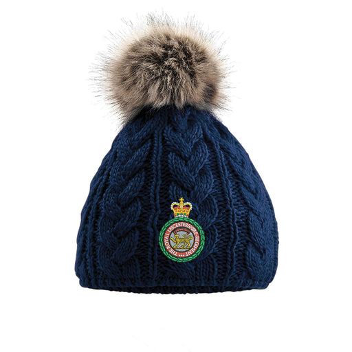 Royal Leicestershire Regiment Pom Pom Beanie Hat