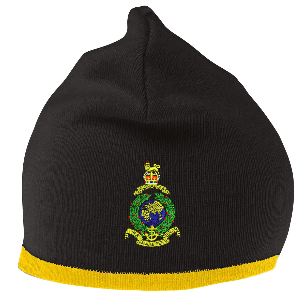 THE ROYAL REGIMENT OF WALES CAP BADGE PRINTED ON A BEANIE HAT CAP.