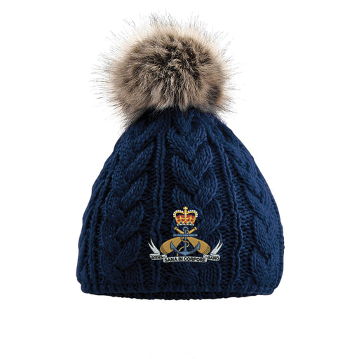 Royal Navy PTI Pom Pom Beanie Hat