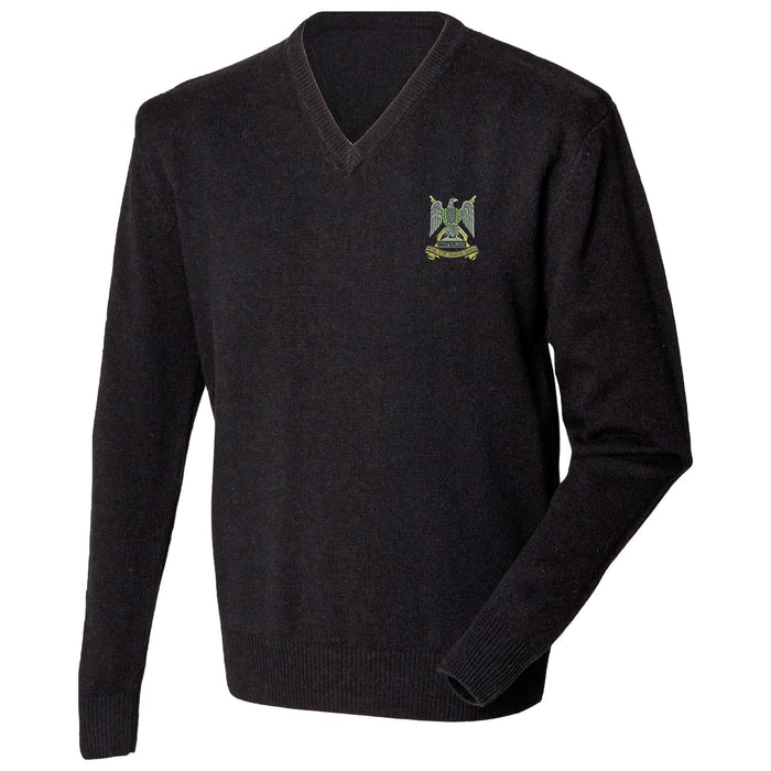 Royal Scots Dragoon Guards Lambswool V-Neck Jumper