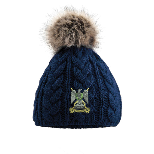 Royal Scots Dragoon Guards Pom Pom Beanie Hat