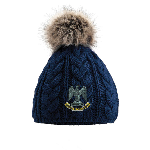 Royal Scots Greys Pom Pom Beanie Hat