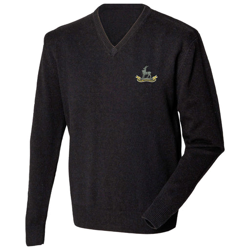 Royal Warwickshire Regiment Lambswool V-Neck Jumper